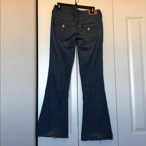 True Religion Flare Ripped Jeans preowned